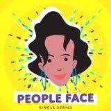 Visage de sourire de personnes Images libres de droits