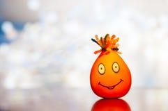 Visage de sourire Le visage fait main de l'homme avec un sourire Image libre de droits