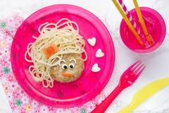 Visage de spaghetti Images stock