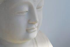 Visage de statue de Bouddha photographie stock