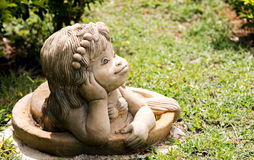 Visage de statue de sirène Photos stock