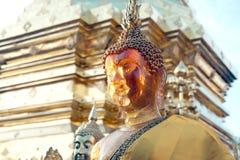 Visage de statue extérieure de Bouddha chez Wat Phra That Doi Suthep dans Chiangmai, Thaïlande Images libres de droits