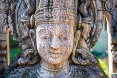 Visage de statue indoue d'un dieu Photographie stock