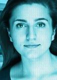 Visage de technologie Images libres de droits