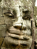 Visage de temple de Bayon Image libre de droits