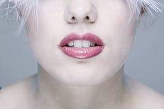 Visage de Woman?s avec de longs cils Image libre de droits