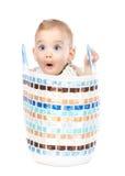 Visage drôle de bébé Photos libres de droits