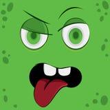 Visage drôle de monstre de bande dessinée illustration de vecteur