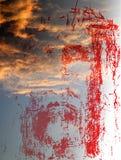 Visage du Christ dans le ciel illustration stock