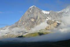 Visage du nord de l'Eiger image libre de droits