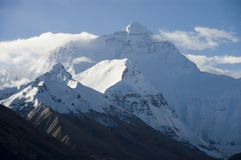 Visage du nord Mt Everest Photo stock