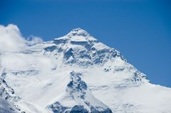 Visage du nord Mt Everest Images stock