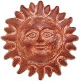 Visage du soleil de terre cuite Image stock