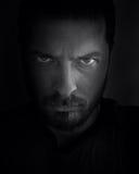 Visage effrayant dans l'ombre Photo libre de droits