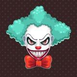 Visage effrayant de clown illustration de vecteur