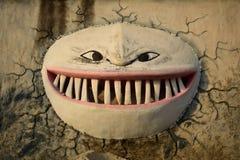 Visage effrayant de monstre images stock