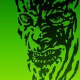 Visage effrayant du démon Illustration de vecteur Photographie stock libre de droits