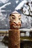 Visage en bois Photos libres de droits