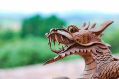 Visage en bois de dragon photo libre de droits