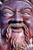 Visage en céramique d'un dieu Photo libre de droits