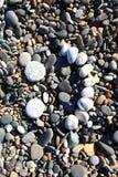 Visage en pierre. images libres de droits