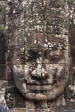 Visage en pierre antique de temple de Bayon Image libre de droits