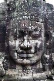 Visage en pierre au Cambodge image libre de droits