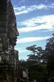 Visage en pierre, Cambodge photo libre de droits