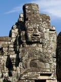 Visage en pierre cambodgien Photo stock