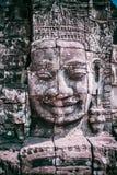 Visage en pierre dans le temple de Bayon, Angkor Vat image stock