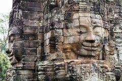 Visage en pierre de temple de Bayon Photo libre de droits