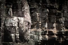 Visage en pierre de temple de Bayon Images stock