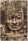 Visage en pierre de Vishnu Images stock