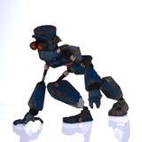 visage expressif d'émotion de dessin animé son robot Photographie stock libre de droits