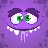 Visage frais de monstre de vecteur de bande dessinée Illustration de Halloween de vecteur de monstre illustration libre de droits