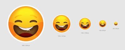 Visage gai d'emoji illustration stock