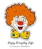 Visage gai de clown Illustration de Vecteur