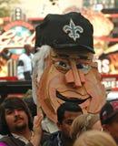 Visage géant porté à la main en Zulu Parade Photos libres de droits