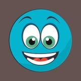 Visage heureux illustration stock