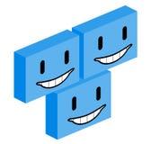 Visage heureux de cube Photos libres de droits