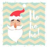 Visage heureux de Santa Claus Caractère drôle de bande dessinée Photo libre de droits