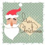 Visage heureux de Santa Claus Caractère drôle de bande dessinée Image stock