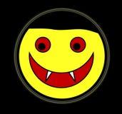 Visage heureux de vampire Image stock