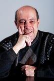 Visage heureux de vieil homme Photos libres de droits