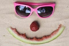 Visage heureux symbolique d'été Images libres de droits