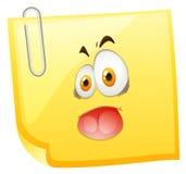 Visage idiot sur le papier jaune illustration de vecteur