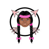 Visage indigène américain de poupée Image stock