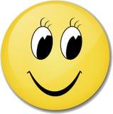 Visage jaune de sourire Photos libres de droits