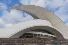 Visage latéral avec la vague de salle de concert de Calatrava Photos libres de droits