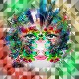 Visage lumineux de robot de couleurs Image stock